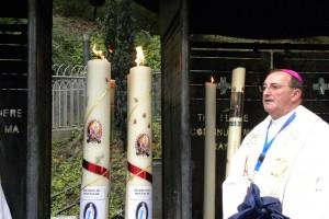 Les trois grands cierges de notre pèlerinage