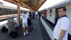 En gare de Lourdes, pour le retour !